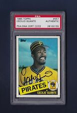 Cecilio Guante signed Pirates 1985 Topps baseball card Psa authenticated