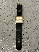 Guess Women's Stainless Steel Quartz Watch w/ Black Leather Band G11017L