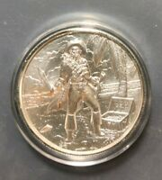 2 Troy oz Privateer The Captain .999 Fine Silver Ultra High Relief Round