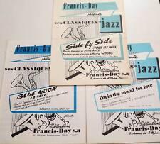 Partition vintage sheet music Francis-Day Présente ses Classiques JAZZ * 50's 3