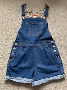 Girls Mini Boden Denim Dungaree Shorts Age 9-10