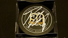 Tori Krug signed Official Boston Bruins 90th Anniversary Game Puck ! COA