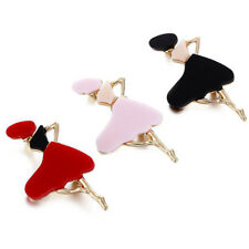 Brooch Party Gift Jewelry Pin Mp Dancing Girl Shape Female Temperament Alloy