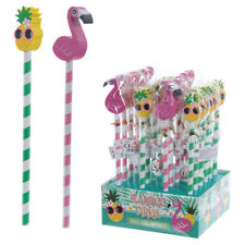 Tropical Pencil & Eraser Set Childrens Party Favour BIRTHDAY PRESENT GIFT IDEA