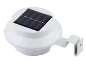 Jardinion Solarleuchte Dachrinnenleuchte 2er Set LED Außenlampe