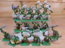 Warhammer ORC WARRIORS pintado de plástico de 20 (498)