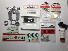 Slot Car Parts Lot- RJR, Chassis, Decals,Tires,Wheels,Bearings, Pickup Shoes-