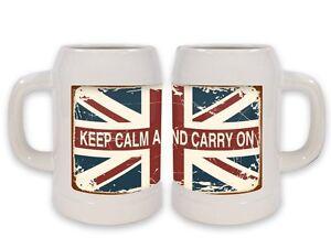 Beer Stein Sayings Keep Calm Ceramic Print