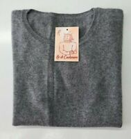 PULL TAILLE M SWEATER DONNA 100% PUR CASHMERE CACHEMIRE PURE CASHMERE GRIS