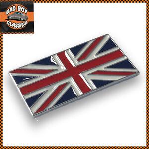 Classic Car Self Adhesive Union Jack Flag Enamel Badge Emblem