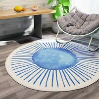 Nordic Round Fluffy Rug Room Carpet Sofa Shaggy Round Rug Floor Mat