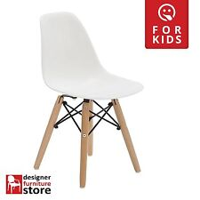 Replica Charles Eames DSW Kids Chair (Beech Wood Legs) - White