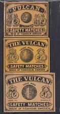 Ancienne étiquette de paquet allumettes Suède AZ4323 Vulcan  Globe