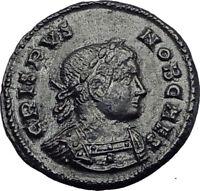 CRISPUS 321AD Lugdunum Authentic Original Ancient Rare Roman Coin Altar i64064