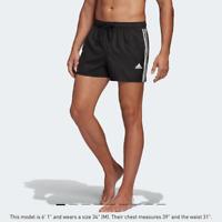 ADIDAS 3-Stripes CLX Swim Shorts Black, Size L