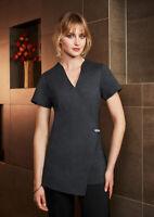 Biz Collection Ladies Spa Tunic Beauty Medical Pharmacy Uniform Stretch Fabric