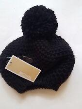 ee8a5a27e7b74 NWT Michael Kors Pom Pom Knit Beret Black Stitched