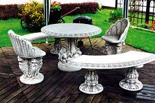 MACIZO asiento de varias plazas muebles jardín Bancos Sillas Mesa Hormigón