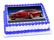 "CAMARO CAR ""REAL EDIBLE ICING"" CAKE IMAGE PARTY TOPPER RECTANGLE FROSTING SHEET"