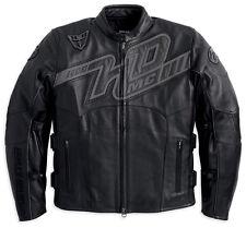 Harley Davidson Men Mile Marker Leather Jacket Reflective Graphic 2XL 97169-13VM
