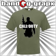 CALL OF DUTY T-SHIRT VIDEOGAMES MILITARE ARMY  cotone 100% con stampa logo