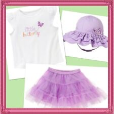 NWT 2T Gymboree BUTTERFLY BLOSSOMS 3pc TUTU, TOP & SUNHAT set wings outfit