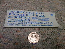 Herald King decals HO Dingley Dell and All Muggleton blue  ZZ41