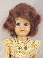 Vintage Hard Plastic Doll Crocheted Dress Sequins 1950s Cute
