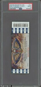2020 Zion Williamson Rookie NBA Debut New Orleans Pelicans Full Ticket PSA 10