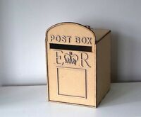 Wedding Post Box, unpainted MDF, royal mail, for cards, flat pack,wishes box