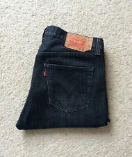 Mens Levis 501XX black straight leg denim jeans W 36 L 34