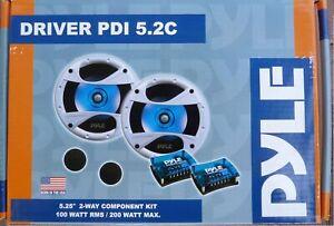 "PYLE DRIVER PDI 5.2C 5,25"" NEU 13 cm 2-Wege Komponentensystem"