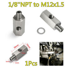 Turbo Adapter Tee Fitting 1/8''NPT To M12x1.5 Car Oil Feed Pressure Sensor Kit