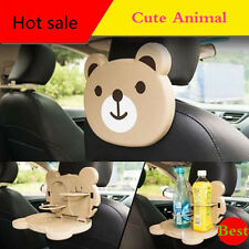 Lovely Animals Folding Car Auto Back Seat Tray Table Drink Food Holder Bear