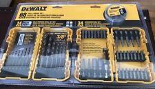 DeWalt 68-piece pc Screwdriver-Power-Drill Bit Wood Metal Tool Set Case Kit NEW