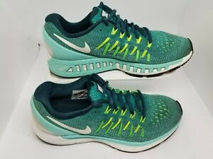 NIKE ZOOM ODYSSEY 2 BLUE GREEN RUNNING TRANING SHOES SNEAKERS WOMENS SIZE 7.5