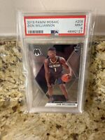 PSA 9 ZION WILLIAMSON 2019-20 Mosaic Base #209 RC Pelicans Rookie Invest!