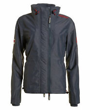 New Womens Superdry Technical SD-Wind Attacker Jacket Mid Charcoal Marl