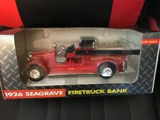 ERTL DIECAST 1926 SEAGRAVE FIRE TRUCK BANK JOHN DEERE 1/30 SCALE 1992