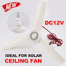 Premium New 3 Blades 12V Ceiling Fan for Solar Power Portable Caravan Camping