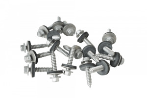 Screws to wood, self-drilling with a 19mm bonded sealing washer (Pack of 100)