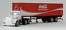 HO 40 Ft Horizon Coke Cola Container #8256 Chassis w/Tractor (03) (0004-009618)