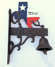 Texas Bell Welcome Dinner & Door Wall Mount Cast Iron Rustic New Old Fashion
