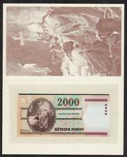 More details for collectors special issue in folder bank of hungary 2000 forint banknote 2000 unc