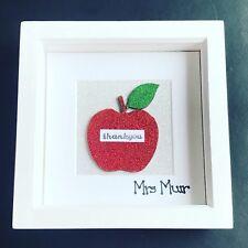 Personalised teacher Thankyou gift box frame