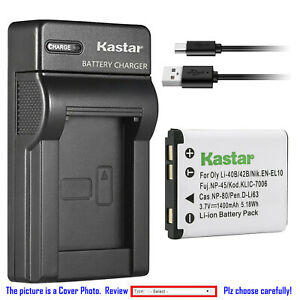 Kastar Battery Slim Charger for Nikon EN-EL10 Nikon Coolpix S3000 Coolpix S4000