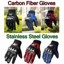 New Black Pro-Biker Carbon Fiber Bike Motorcycle Motorbike Racing Gloves M/L/XL