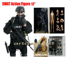 "Military Combat 12"" 1/6 Toy Police SWAT Action Figure Soldier Dolls Suit Set"