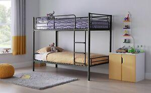 Home Mason Metal Bunk Bed Frame - Black
