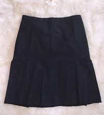 NWT JCrew Box pleated skirt in wool flannel 6 Black $128 F4521 CURRENT SOLD-OUT!